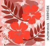 seamless hibiscus flower...   Shutterstock .eps vector #56884186