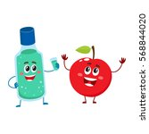 funny dental mouthwash  mouth... | Shutterstock .eps vector #568844020