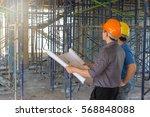 construction concepts  engineer ... | Shutterstock . vector #568848088