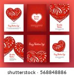 set of six cards or banners for ... | Shutterstock .eps vector #568848886