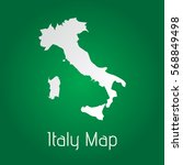 flat italy map white with green ... | Shutterstock .eps vector #568849498