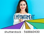 empowerment text with young... | Shutterstock . vector #568860430