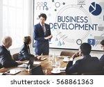 achievement business... | Shutterstock . vector #568861363