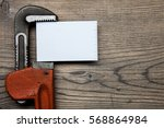 set of pipes plumbing tools... | Shutterstock . vector #568864984
