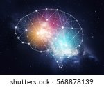 concept of human intelligence... | Shutterstock . vector #568878139