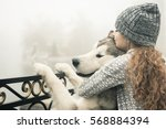 image of young girl with her... | Shutterstock . vector #568884394