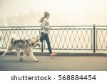 image of young girl running... | Shutterstock . vector #568884454