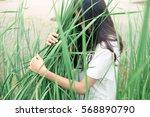 Young Girl Hug Tree Plant
