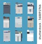 office public printer fax... | Shutterstock .eps vector #568891966