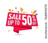 sale vector banner template  ... | Shutterstock .eps vector #568893070