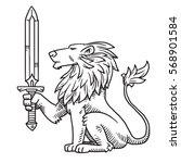 vector image of heraldic lion... | Shutterstock .eps vector #568901584