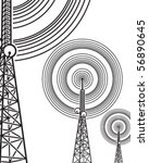 on the air  antenna  | Shutterstock .eps vector #56890645