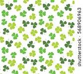 clover leaf hand drawn doodle... | Shutterstock .eps vector #568906963