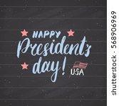 happy president's day vintage...   Shutterstock .eps vector #568906969