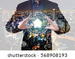 double exposure property... | Shutterstock . vector #568908193