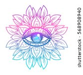 sacred geometry symbol with all ... | Shutterstock .eps vector #568908940
