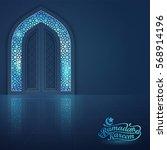 ramadan kareem greeting card... | Shutterstock .eps vector #568914196