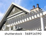 close up beach house with... | Shutterstock . vector #568916590