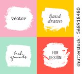 vector hand drawn elements for... | Shutterstock .eps vector #568918480