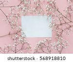 Blank Paper Card With Frame Of...