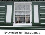 vintage rustic window with... | Shutterstock . vector #568925818