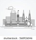 linear illustration of ottawa ... | Shutterstock .eps vector #568926046