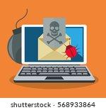 cyber security design | Shutterstock .eps vector #568933864