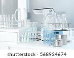 laboratory test tube isolated... | Shutterstock . vector #568934674