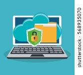 cyber security design | Shutterstock .eps vector #568935070