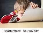 bored student | Shutterstock . vector #568937539