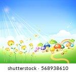 flower background_peaceful... | Shutterstock .eps vector #568938610
