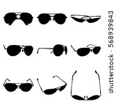 set sunglasses icon. simple... | Shutterstock .eps vector #568939843