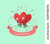two happy hearts in love... | Shutterstock .eps vector #568948096