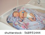 newborn baby minutes after the... | Shutterstock . vector #568951444