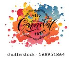 hand drawn 'carnival' as... | Shutterstock .eps vector #568951864
