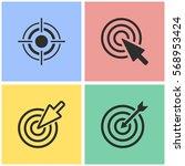 target vector icons set.... | Shutterstock .eps vector #568953424
