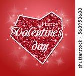 happy valentines day design... | Shutterstock .eps vector #568953688