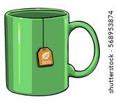 Vector Cartoon Green Single Mu...