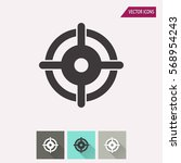 target vector icon.... | Shutterstock .eps vector #568954243