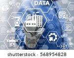 industry 4.0 factory iot... | Shutterstock . vector #568954828