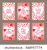 set valentine's day greeting... | Shutterstock .eps vector #568957774
