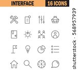 interface flat icon set....