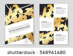 abstract vector layout... | Shutterstock .eps vector #568961680