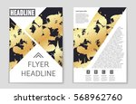 abstract vector layout... | Shutterstock .eps vector #568962760