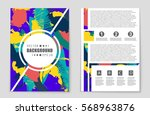 abstract vector layout... | Shutterstock .eps vector #568963876