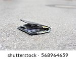 lost wallet with money and... | Shutterstock . vector #568964659