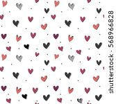 heart seamless pattern.colorful ... | Shutterstock .eps vector #568966828