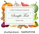card template with vegetables... | Shutterstock .eps vector #568969558