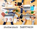 interacting as team for better... | Shutterstock . vector #568974634