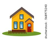 exterior house isolated icon | Shutterstock .eps vector #568975240